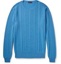 Etro Cable Knit Cahmere Weater Azure
