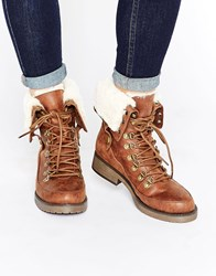 Head Over Heels By Dune Rollo Worker Boots Tan Brown