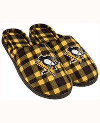 Forever Collectibles New York Rangers Flannel Slide Slippers Black