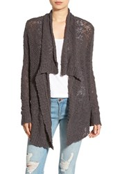 Rip Curl Women's 'Venice' Slub Cotton Cardigan Dark Grey