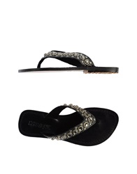Mystique Thong Sandals Black