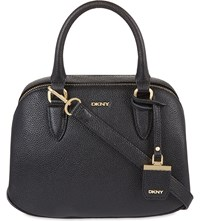 Dkny Chelsea Vintage St Small Leather Satchel Black