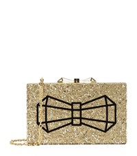 Ted Baker Bowwe Glitter Resin Clutch Female Metallic