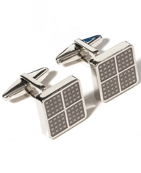 Kenneth Cole Reaction Square Dot Detail Cufflinks Grey