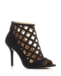 Michael Michael Kors Yvonne Open Toe High Heel Caged Booties