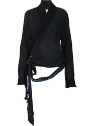 Greg Lauren Distressed Wrap Jacket Black