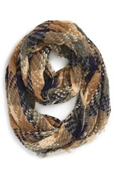 Junior Women's Girly Plaid Woven Infinity Scarf
