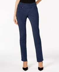 Jag Petite Peri Corduroy Straight Leg Pants Midnight