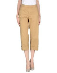 Douuod Trousers 3 4 Length Trousers Women Camel
