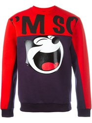 Iceberg Colour Block Sweatshirt Red