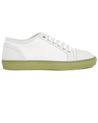 Armani Collezioni Dual Fabric Sneakers With Contrasting Ivory Sole