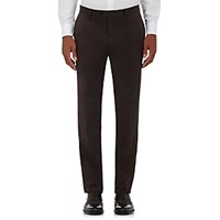 Barneys New York Men's Cotton Cashmere Twill Trousers Brown