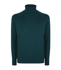 Jacob Cohen Knit Roll Neck Sweater Male Green