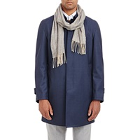 Colombo Pinstriped Flannel Scarf Gray