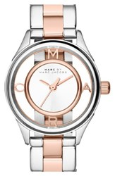 Women's Marc Jacobs 'Tether' Skeleton Bracelet Watch 25Mm