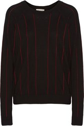 Sandro Sena Cotton Wool And Cashmere Blend Sweater Black