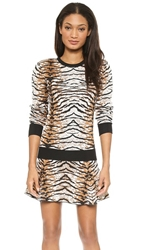 Torn By Ronny Kobo Shauna Tiger Jacquard Sweater Natural