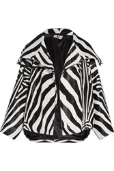 Topshop Unique Vaughn Oversized Zebra Print Calf Hair Jacket Zebra Print