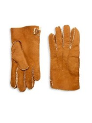 Hilts Willard Philip Double Faced Shearling Leather Gloves Cognac