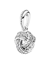 Pandora Design Pandora Pendant Sterling Silver And Cubic Zirconia Sparkling Love Knot