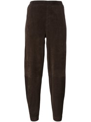 Steffen Schraut Tapered Cropped Trousers Brown