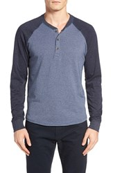 Tailor Vintage Men's Baseball Henley Navy