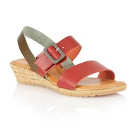 Lotus Banos Open Toe Sandals Red
