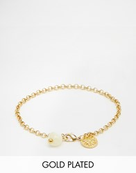 Mirabelle Belcher Gold Plated 18Cm Bracelet With Mother Of Pearl Pearl