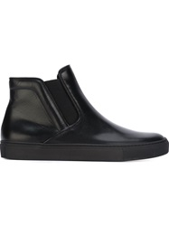 L'autre Chose Hi Top Slip On Sneakers Black