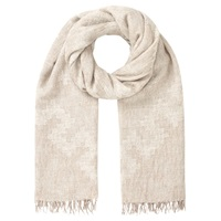 Jigsaw Oversized Aztec Scarf Natural