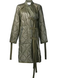3.1 Phillip Lim Quilted Coat Green