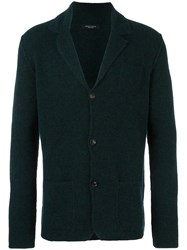 Roberto Collina Knitted Button Through Jacket Green