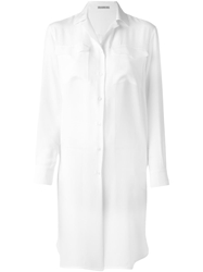 Ermanno Scervino Loose Fit Shirt Dress White