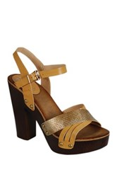 Refresh Alisa Cross Strap High Heel Sandal Brown