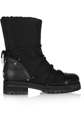 Jimmy Choo Shearling Lined Pique Shell Boots Black