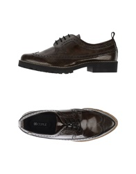 Cuple Lace Up Shoes Dark Green