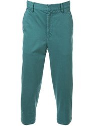 Cityshop Tapered Cropped Chinos Green