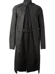 Gareth Pugh Insert Trench Coat Black