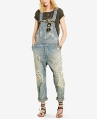 Denim And Supply Ralph Lauren Clayton Distressed Overalls