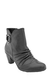 Earthr Women's Earth 'Topaz' Cap Toe Bootie Black Leather