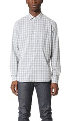 Billy Reid John Shirt Fog Blue