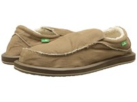 Sanuk Chiba Chill Brown Waxed Cord Men's Slip On Shoes