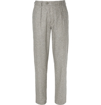 Oliver Spencer Grey Woven Silk Suit Trousers Gray