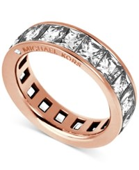 Michael Kors Rose Gold Tone Ring With Square Cut Stones