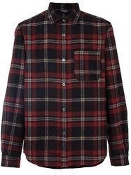 A.P.C. Plaid Button Down Shirt Black