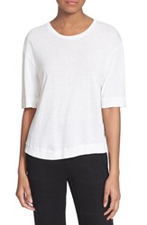 Women's Superfine 'Law Breaker' Plisse Back Linen Tee