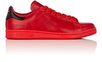 Adidas Women's Women's Stan Smith Leather Sneakers Red Black Red Black