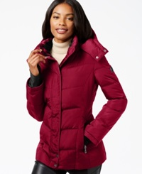 Calvin Klein Fleece Lined Quilted Active Coat Crimson