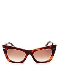 Tom Ford Kasia Square Cat Eye Sunglasses 59Mm Havana Gradient Brown