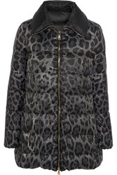 Moncler Alimede Leopard Print Quilted Shell Down Coat Leopard Print